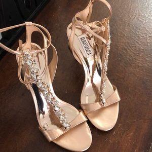Rose Gold Badgkey Mischka  Heels